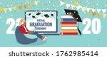 virtual graduation ceremony...   Shutterstock .eps vector #1762985414
