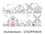 farm products landscape scene... | Shutterstock .eps vector #1762993424