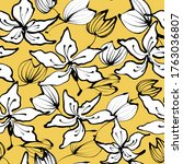 floral vector yellow pattern...   Shutterstock .eps vector #1763036807