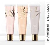 vector pastel clear lip gloss...   Shutterstock .eps vector #1763042207