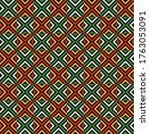 kwanzaa seamless pattern  ... | Shutterstock . vector #1763053091