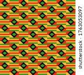 kente cloth seamless pattern  ... | Shutterstock . vector #1763053097