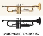 Trumpet Isolated On White....