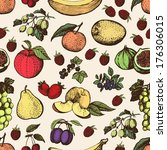 cut pattern of hand made... | Shutterstock .eps vector #176306015