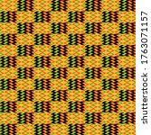 kente cloth seamless pattern  ... | Shutterstock . vector #1763071157