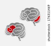 brain sticker  realistic design ... | Shutterstock . vector #176311469