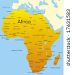 abstract map of africa continent | Shutterstock .eps vector #17631583
