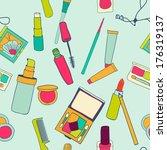 set of makeup objects. vector... | Shutterstock .eps vector #176319137