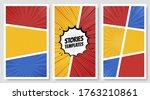 comic speech bubbles. comic... | Shutterstock .eps vector #1763210861
