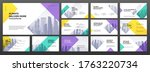 business powerpoint... | Shutterstock .eps vector #1763220734