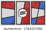 comic speech bubbles. comic... | Shutterstock .eps vector #1763227304