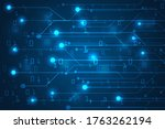 digital lines electronic and...   Shutterstock .eps vector #1763262194