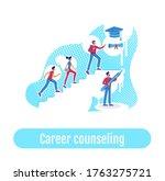 students teaching flat concept...   Shutterstock .eps vector #1763275721