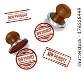 new product 3d stamp  | Shutterstock .eps vector #176328449