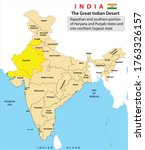 india map. political map of... | Shutterstock .eps vector #1763326157