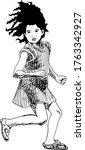 hand drawn ink illustration of... | Shutterstock .eps vector #1763342927