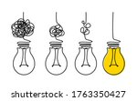 Light Bulbs And Scribbles. The...