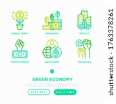 green economy thin line icons... | Shutterstock .eps vector #1763378261