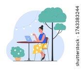 rest alone. vector illustration ... | Shutterstock .eps vector #1763383244