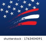 independence day. usa flag with ... | Shutterstock .eps vector #1763404091