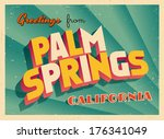 vintage touristic greeting card ... | Shutterstock .eps vector #176341049