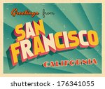 vintage touristic greeting card ...   Shutterstock .eps vector #176341055