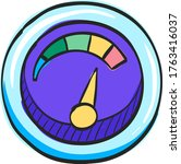 dashboard icon in color drawing.... | Shutterstock .eps vector #1763416037