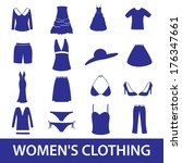 women clothing icon set eps10 | Shutterstock .eps vector #176347661
