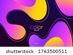 moving colorful abstract... | Shutterstock .eps vector #1763500511