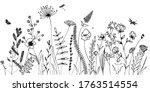 black silhouettes of grass ... | Shutterstock .eps vector #1763514554