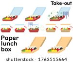 disposable lunch box and take...   Shutterstock .eps vector #1763515664