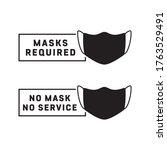 please wear mask sign. masks...   Shutterstock .eps vector #1763529491