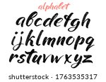 calligraphic hand drawn letters.... | Shutterstock .eps vector #1763535317