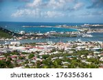 panoramic view of saint martin... | Shutterstock . vector #176356361