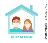 family stay at home stop... | Shutterstock .eps vector #1763570717