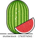 vector illustration watermelon... | Shutterstock .eps vector #1763576561