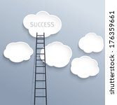 success concept  clouds with... | Shutterstock .eps vector #176359661