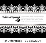 vintage lace card | Shutterstock .eps vector #176362307