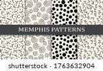seamless memphis style pattern... | Shutterstock .eps vector #1763632904
