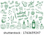natural cosmetic  spa and self... | Shutterstock .eps vector #1763659247