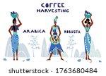 womans unidentified coffee...   Shutterstock .eps vector #1763680484