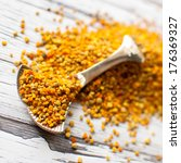 raw organic bee pollen over...   Shutterstock . vector #176369327