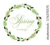 floral frame. cute retro... | Shutterstock .eps vector #176370575