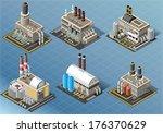 vector isometric building...   Shutterstock .eps vector #176370629
