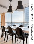 Luxury Dining Area With Long ...