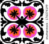 suzani  vector seamless ethnic... | Shutterstock .eps vector #176374199
