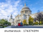 St. Pauls Cathedral With Red...
