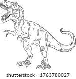 Roaring T Rex. Prehistoric...