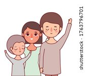 mother father and son with...   Shutterstock .eps vector #1763796701