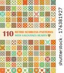 110 retro seamless patterns... | Shutterstock .eps vector #176381927